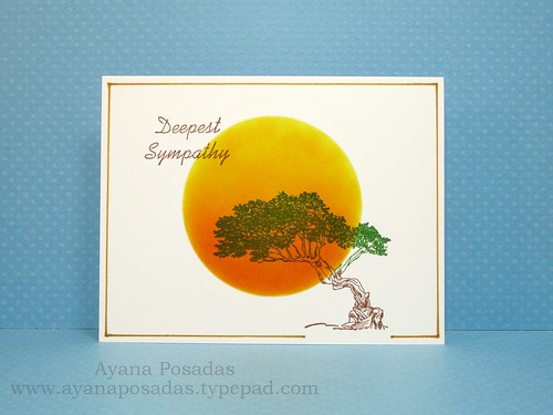 Sympathy One-Layer Card (1)
