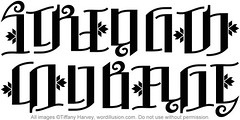 """Strength"" & ""Courage"" Ambigram"