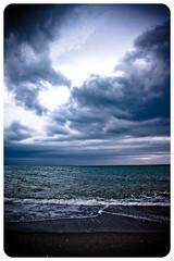 Inmensidad... (InVa10) Tags: blue sea sky beach water azul clouds canon eos mar spain sand agua waves bank playa arena badajoz cielo nubes olas malaga orilla extremadura inva 450d
