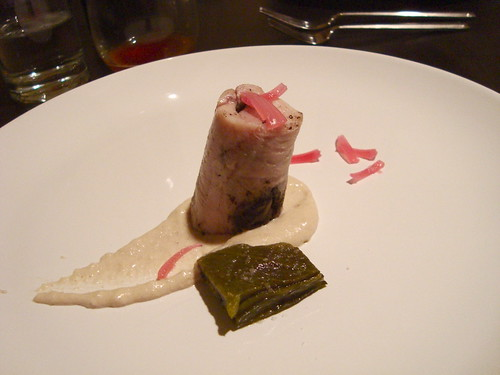 Rabbit and Huitlacoche with Tortilla Puree and Poblano Chile