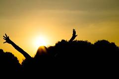 eeeek...me mysef (diiiivya) Tags: trees orange me silhouette myself happy evening photo twilight sunsets jolly sunrays eeek top20sunsetsofourhearts
