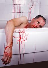 Psycho (BazF) Tags: slash red halloween bathroom blood bath kill knife psycho gore horror murder bloodbath