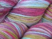 "Free Drawing 4.3 oz BFL Wool Worsted Yarn ""Fairyland"""