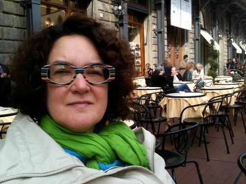 NK at the Rivoire cafe P della Signorina