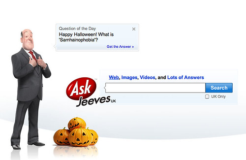Ask Jeeves UK Halloween