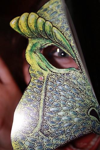 Dilophosaurus Mask