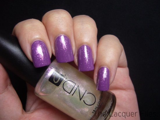 CND Eclectic Purple and CND Raspberry Sparkle