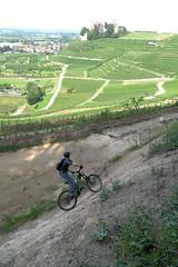 Wallride vor Schloß Ortenberg