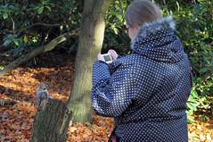Day 187 November 6th - Kez and squirrel (hankandrej) Tags: park camera pose grey photo squirrel feeding matthew nuts peanuts lincolnshire lincoln feed 365 nut hank carnivore kez andrej parrott hartsholme hankandrej