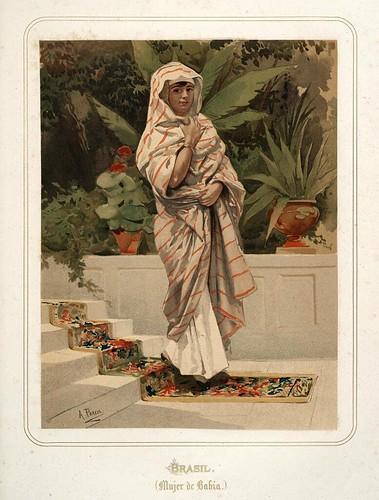 015-Brasil-Mujer de Bahia-Las Mujeres Españolas Portuguesas y Americanas 1876-Miguel Guijarro