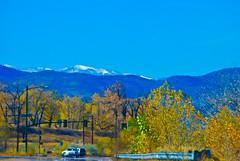 Littleton Countryside - Snow capped mountains & Autumnal  colors (Rockin Robin) Tags: colorado littleton snowtippedmountains peacefulnature populationdecline autumnalmixofcolors denvercountryside