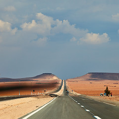 The Road to Marrakesh (Svein Skjåk Nordrum) Tags: road sky clouds square vanishingpoint highway desert morocco squareformat bsquare explored