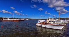 Naantali (Joni Mansikka) Tags: summer sky sea boats clouds pier buoys trees blues landscape balticsea naantali suomi suomi100 finland finland100 sal1118