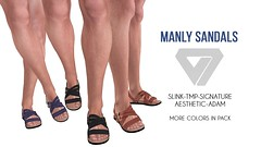 Manly Sandals for TMD July Round (..::ILLI::..) Tags: illi tmd aesthetic slink tmp signature adam