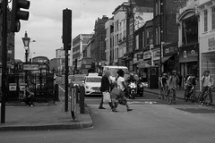 Pedestrian Crossing (danielchapman1) Tags: london camden camdentown blackandwhite pedestrian traffic crossing people