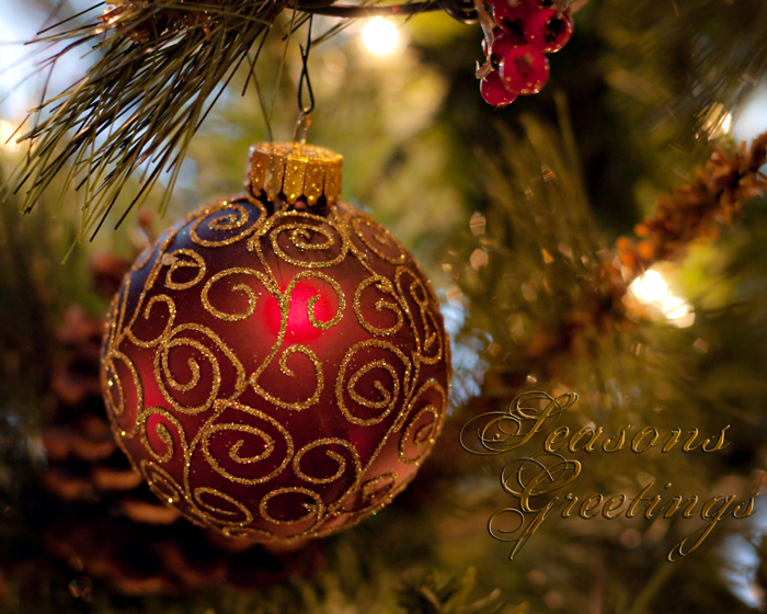 Ornament Seasons Greetings WM