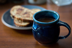 home made (Ben Kimball) Tags: coffee breakfast steam frenchtoast homemade mug pottery goodvibes