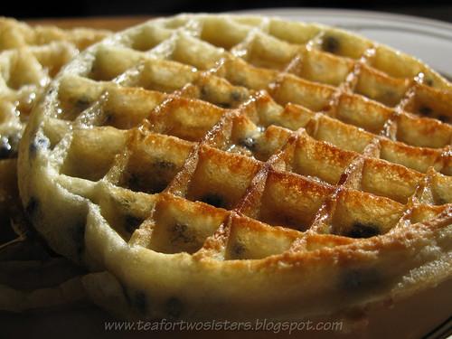 Blueberry Eggo waffle