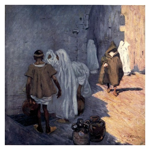 023-Una fuente en Marrakesh-Morocco 1904- Ilustraciones de A.S. Forrest