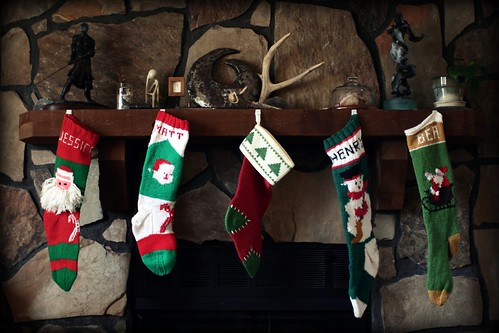 the stocking were hung by the chimney