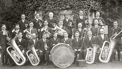 Dick Kerr's Electric Works Band, Preston c. 1925 (Preston Digital Archive) Tags: old england vintage photo image dick band lancashire photograph preston past kerrs lancs dickkerrsband