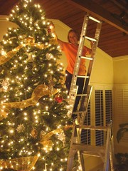 Decorating the 12.5' Christmas Tree