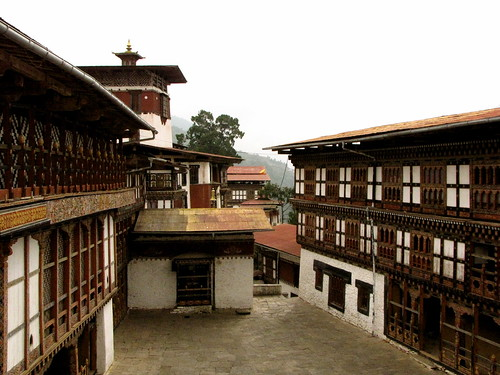 the dzong courtyard