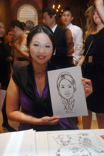 Caricature live sketching for AMEC Party - 5