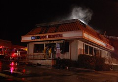 Fire at West Hills Animal Hospital. © Photo by Ryan Babroff. Click to view more...