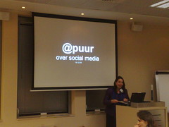 Anna-maria @puur over aandacht met social media #smcadam