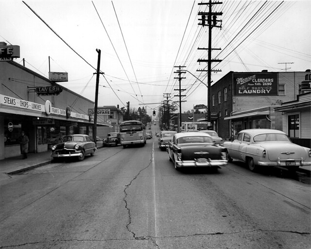 Ravenna business district (65th St.), 1955