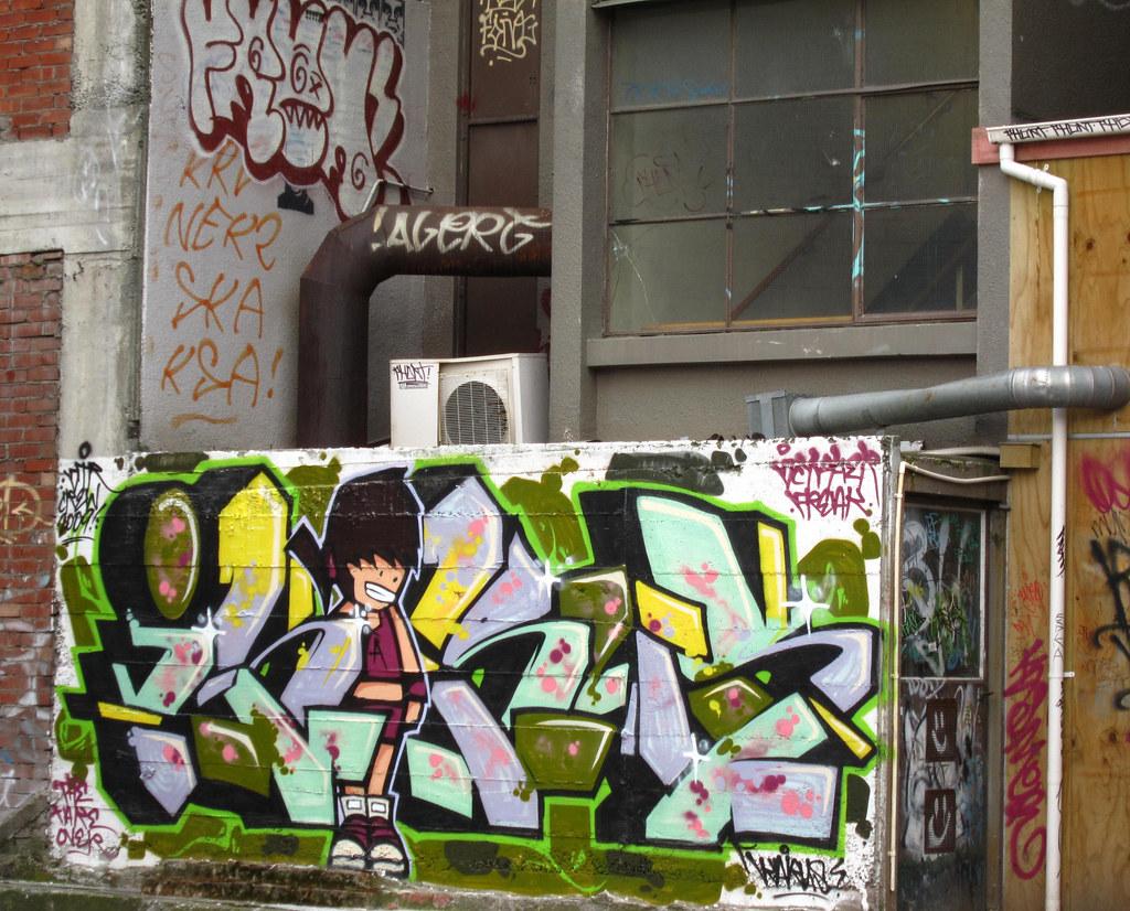 Graffiti wall christchurch - Christchurch New Zealand November 2009