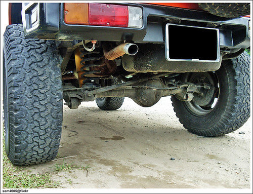 Rear Axle of The Modified Suzuki Jimny Sierra