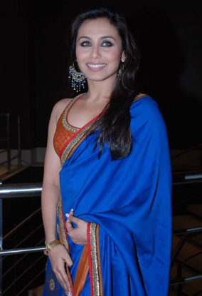 Ranimukherjee-Blue-Saree