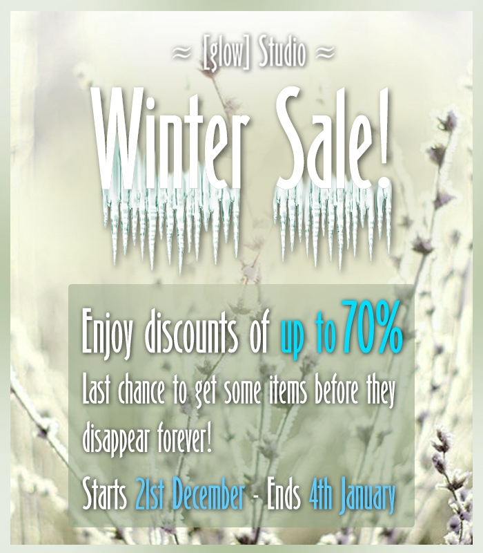 [ glow ] studio WINTER SALE