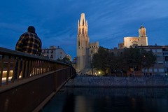 Girona de nit III (valconis (Isra Vallejo)) Tags: sky luz rio river puente noche catedral cel girona cielo pont vallejo gerona nit llum riu isra feliu sanfelix valconis