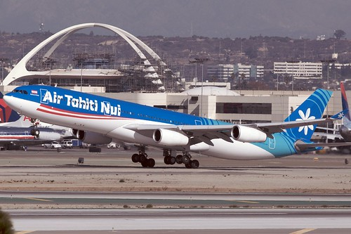 Air Tahiti Nui A340-300 F-OSUN departing LAX