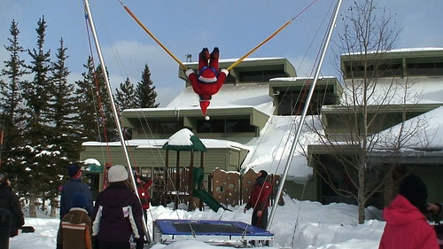Santa on Bungee Tramp
