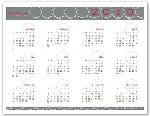 calendars. 2010 Printable Calendar: Rings