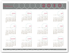 2010 Printable Calendar: Rings Design