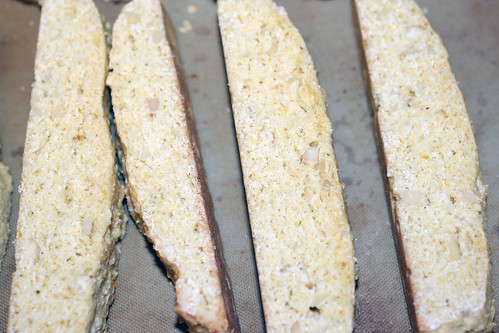 lemon biscotti cut