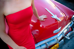 red red (flamed) Tags: red classic love vintage country havana cuba 1950s classiccars automobiles reddress possession vintagecars