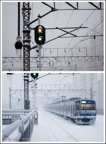 Seoul, Korea: First Snow 2010