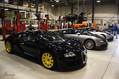 A few Veyrons and 2 LP670-4 SVs (JeremySW) Tags: auto london car 164 bugatti lamborghini supercar sv gallardo supercars veyron bugattiveyron gallardospyder lamborghinigallardospyder hypercar hypercars lamborghinisv lp6704