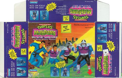 "Teenage Mutant Ninja Turtles ""MUTATIONS"" :: MUTATIN' SHREDDER .. box i (( 1993 ))"