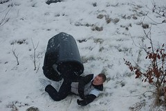 Tim 3 (cn174) Tags: snow lancashire bin sledding snowing sledge sledging compostbin birkacre coppull