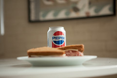 Pepsi and shaved ham (chrisglass) Tags: sandwich rye pepsi shavedham pepsithrowback