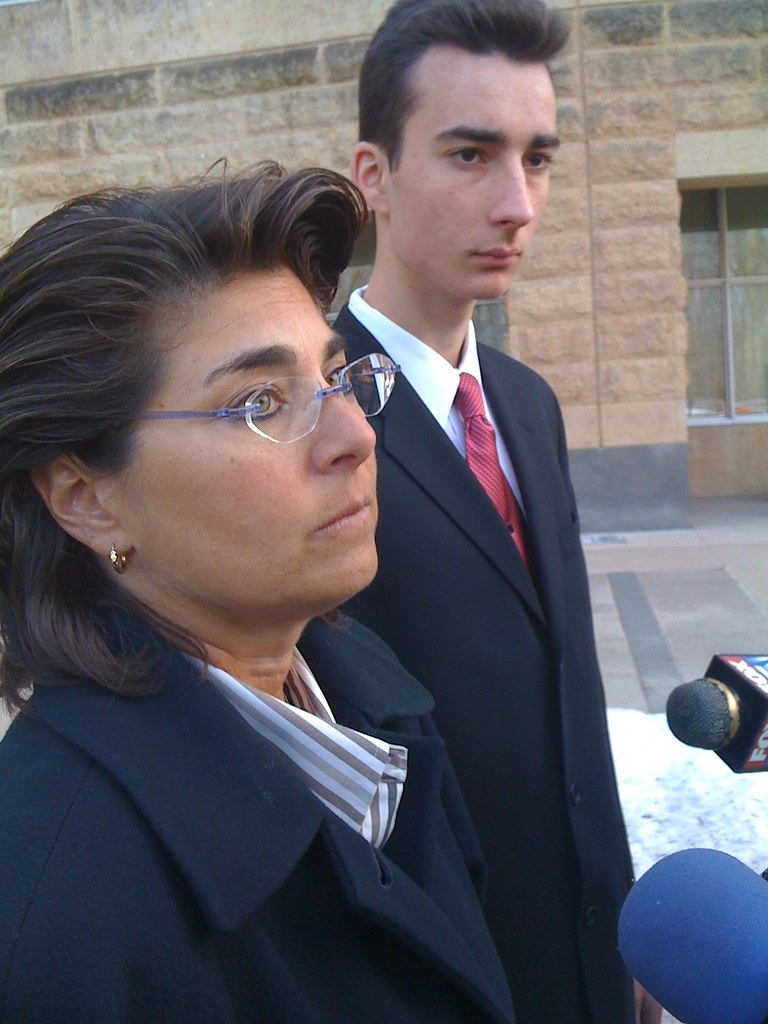 Attorney Rene Sandler , client Patrick Yevsukov