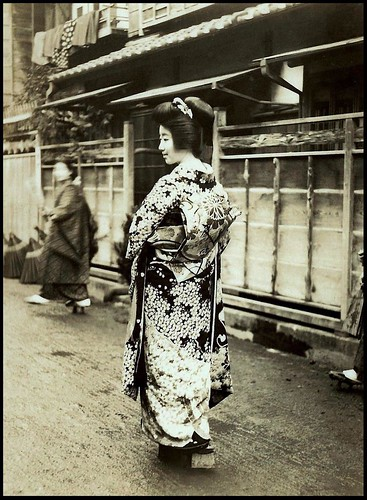 LITTLE MISS HANGYOKU -- A Newly Born Geisha on Her Way in OLD JAPAN