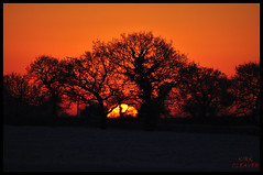 Sunset And Snow 03 (Kirk09) Tags: uk ireland sunset england orange sun snow west colour silhouette yellow set wales scotland europe shine cheshire bright snowy united east crewe souther and colourful shiney northern blizzard kindom smallwood sandbach